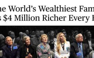 全球最富有的25个家族 日进1亿美元是啥感觉?
